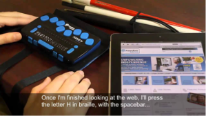Braille Display with an iPad