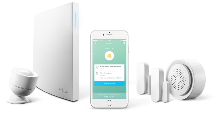 Wink starter kit with HUB, devices, and home automation app